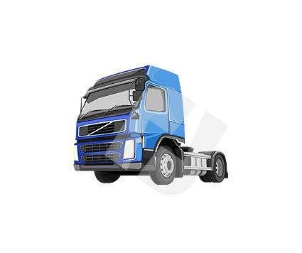 Truck Tractor Clipart #00108