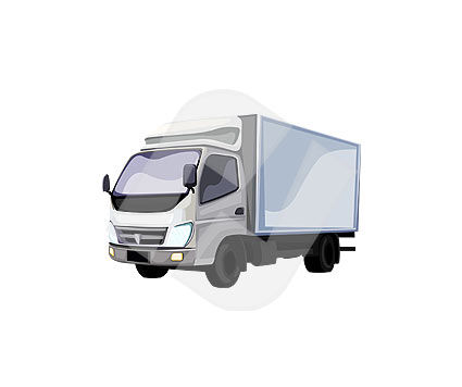 Truck Vector Clip Art, 00109, Industry Essentials — PoweredTemplate.com