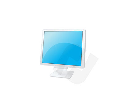 Monitor Vector Clip Art, 00119, Consumer Electronics — PoweredTemplate.com