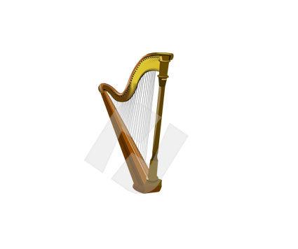 Music: Harfe Clip Art #00124