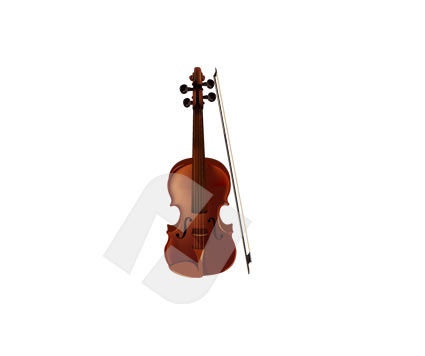 Music: Violin Vector Clip Art #00125