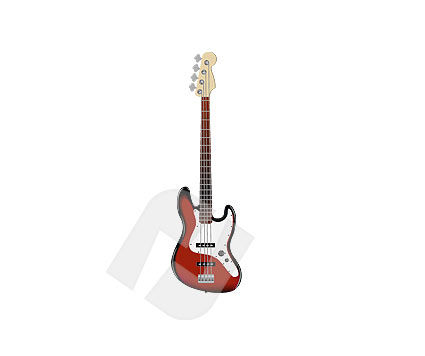 Guitar Vector Clip Art, 00129, Music — PoweredTemplate.com