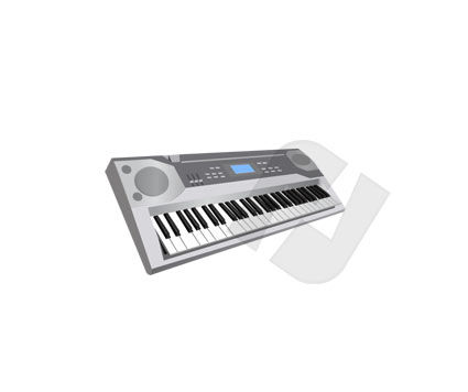 Synthesizer Vector Clip Art, 00130, Music — PoweredTemplate.com