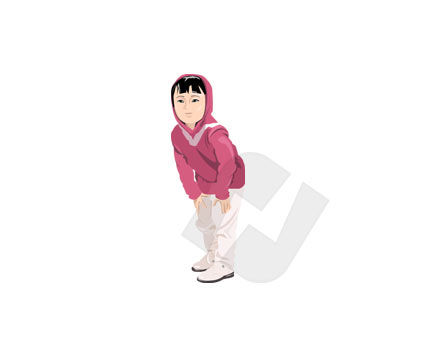 Girl Vector Clip Art, 00131, People — PoweredTemplate.com