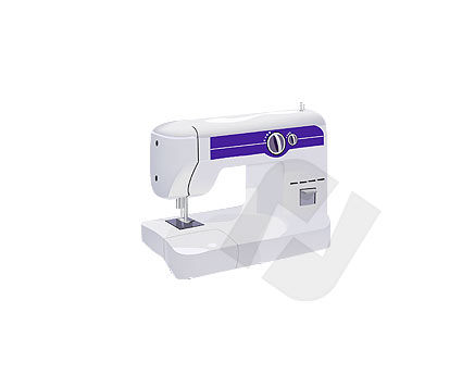 Sewing Machine Vector Clip Art, 00132, Home Appliances — PoweredTemplate.com