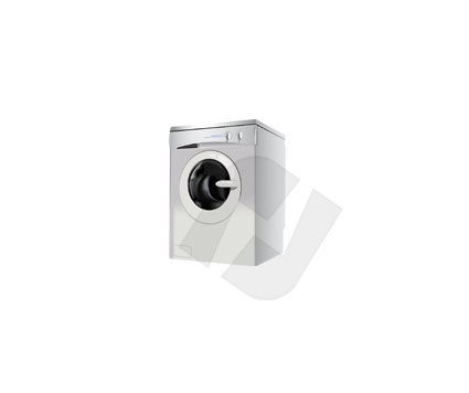 Home Appliances: Laundry Washer Vector Clip Art #00136