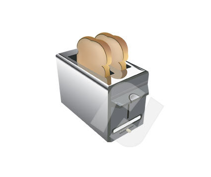 Home Appliances: Toaster Vector Clip Art #00139
