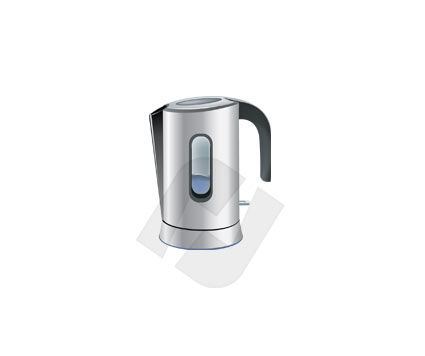 Electric Kettle Vector Clip Art, 00141, Home Appliances — PoweredTemplate.com