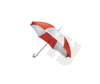 Objects and Equipment: Umbrella Vector Clip Art #00149