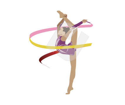 Sports: Gymnast Vector Clip Art #00152