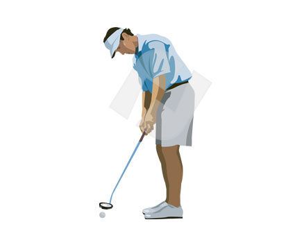 Sports: Golf Vector Clip Art #00153