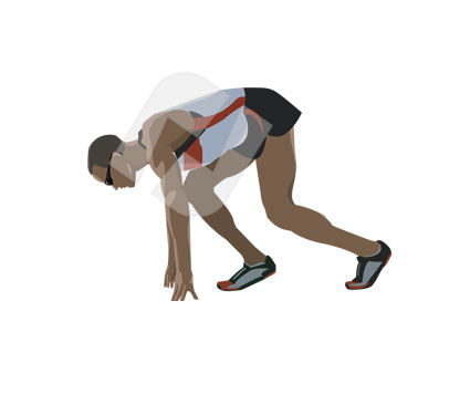 Sports: Runner Vector Clip Art #00154