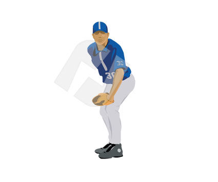 Sports: Pitcher Vector Clip Art #00161