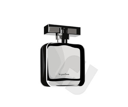 Industry Essentials: Bottle of Perfume Vector Clip Art #00162