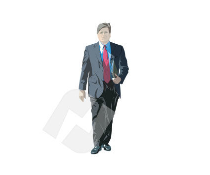 Businessman Vector Clip Art, 00165, People — PoweredTemplate.com