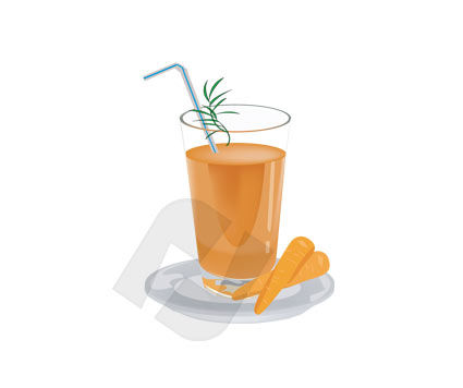 Food & Beverage: Karottensaft Clip Art #00168