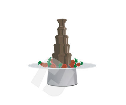 Food & Beverage: Chocolate Pudding Vector Clip Art #00170