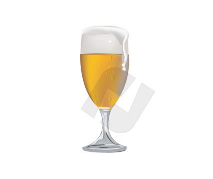Food & Beverage: Glass of Beer Vector Clip Art #00171