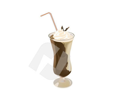 Food & Beverage: Chocolate Cocktail Vector Clip Art #00173
