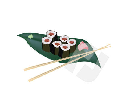 Food & Beverage: Clip Art - Sushi #00175