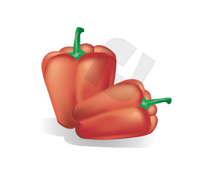 Agriculture: Sweet Bell Red Pepper #00180