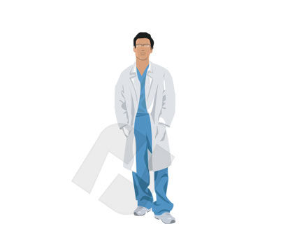 Corps Man Vector Clip Art, 00182, Medical — PoweredTemplate.com
