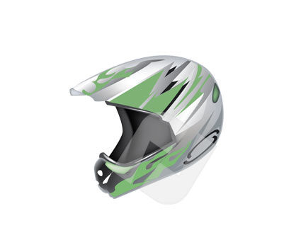 Sports: Helmet Vector Clip Art #00187