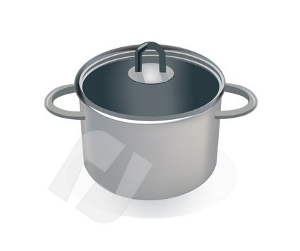 Saucepan Vector Clip Art, 00188, Home Appliances — PoweredTemplate.com