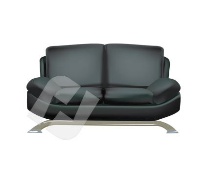 Objects and Equipment: Sofa Vector Clip Art #00189
