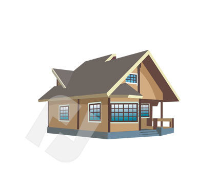 Construction: Cottage Vector Clip Art #00194