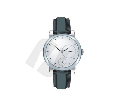 Wrist Watch Vector Clip Art, 00195, Objects and Equipment — PoweredTemplate.com