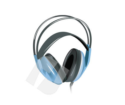 Consumer Electronics: Headphones Vector Clip Art #00196