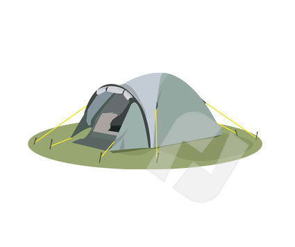 Tent Vector Clip Art, 00197, Sports — PoweredTemplate.com