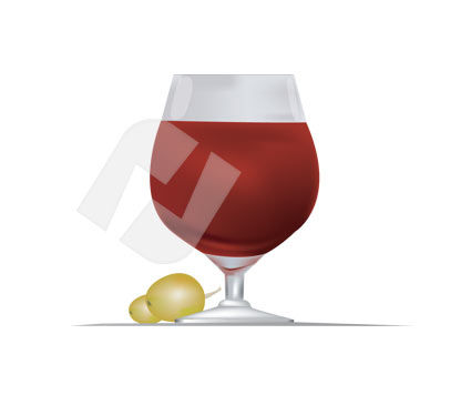 Food & Beverage: Bocal Vector Clip Art #00199