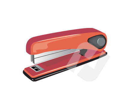 Objects and Equipment: Manual Stapler Vector Clip Art #00202