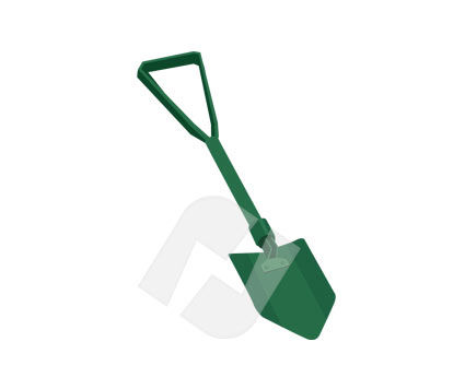 Shovel Vector Clip Art, 00203, Objects and Equipment — PoweredTemplate.com