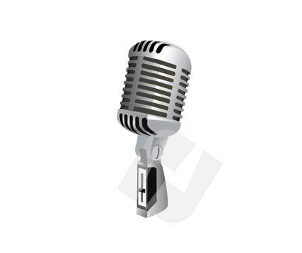 Studio Microphone, 00205, Consumer Electronics — PoweredTemplate.com