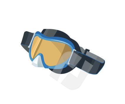 Ski Glasses Vector Clip Art