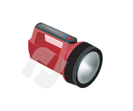 Flash Light Vector Clip Art, 00211, Objects and Equipment — PoweredTemplate.com