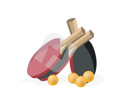 Sports: Clip Art Ping Pong Set #00212