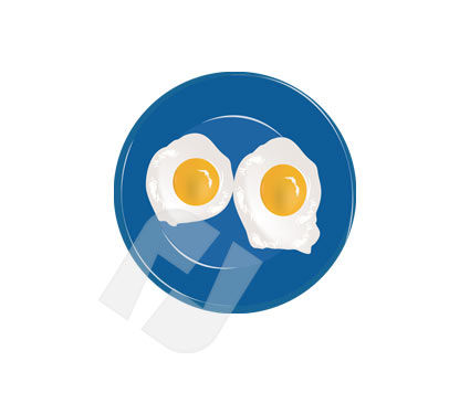 Sunny-Side Up Eggs, 00214, Food & Beverage — PoweredTemplate.com
