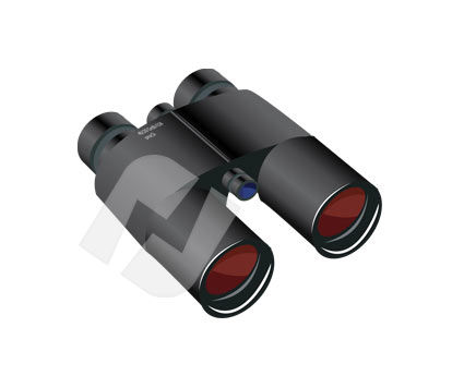 Sea Binocular Vector Clip Art
