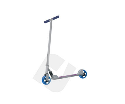 Sports: Scooter Vector Clip Art #00218