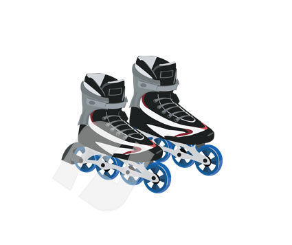 Sports: Roller Skates Vector Clip Art #00224