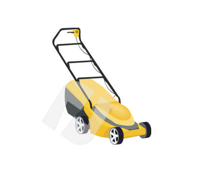 Grass Mower Vector Clip Art, 00227, Home Appliances — PoweredTemplate.com