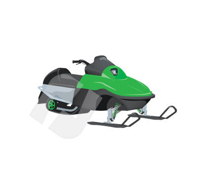 Industry Essentials: Snowmobile Vector Clip Art #00231