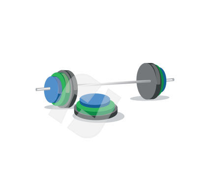 Sports: Weight Vector Clip Art #00233