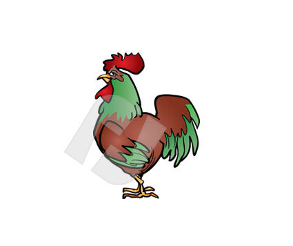 Bantam Vector Clip Art, 00240, Animals and Pets — PoweredTemplate.com