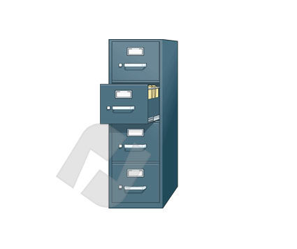 Industry Essentials: Files Closet Vector Clip Art #00249