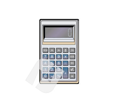 Objects and Equipment: Calculator Vector Clip Art #00255